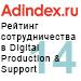 Рейтинг сотрудничества в Web production & Support (AdIndex) — 14 место