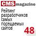 Рейтинг разработчиков самых посещаемых сайтов  («Рейтинг Рунета», CMSMagazine) — <br>48 место