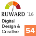 Рейтинг «Digital Design & Creative 2016» (Ruward) — 54 место