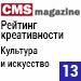 Рейтинг креативности веб-студий / Культура и искусство («Рейтинг Рунета», CMSmagazine) — 13 место