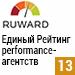 Единый Рейтинг performance-агентств 2016 (Ruward) — <br>13 место