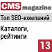 Рейтинг SEO-компаний / Каталоги и рейтинги («Рейтинг Рунета», CMSmagazine) — 13 место