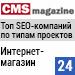 Рейтинг SEO-компаний по типам проектов / Интернет-магазин («Рейтинг Рунета», CMSmagazine) — 24 место