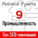 Рейтинг SEO-компаний / Промышленность («Рейтинг Рунета») — 9 место