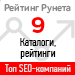 Рейтинг SEO-компаний / Каталоги и рейтинги («Рейтинг Рунета») — 9 место