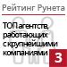 Рейтинг агентств, работающих с крупнейшими компаниями / Дом, семья («Рейтинг Рунета») — 3 место
