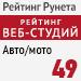 "Рейтинг веб-студий (""Рейтинг Рунета"") / Авто/мото - 49 место"