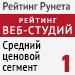 """Рейтинг веб-студий (""""Рейтинг Рунета"""") / Средний ценовой сегмент - 1 место"""