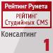 """Рейтинг студийных CMS / Консалтинг (""""Рейтинг Рунета"""") — 1 место"""