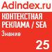 Рейтинг знания в контекстной рекламе (AdIndex) — 25 место