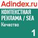 Рейтинг качества в контекстной рекламе (AdIndex) —  1 место