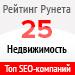 Рейтинг SEO-компаний / Недвижимость («Рейтинг Рунета») — 25 место
