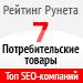 Рейтинг SEO-компаний / Потребительские товары («Рейтинг Рунета») — 7 место
