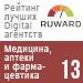 Рейтинг лучших Digital агентств (Ruward) / Медицина, аптеки и фармацевтика — 13 место