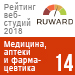 Рейтинг веб-студий (Ruward) / Медицина, аптеки и фармацевтика — 14 место