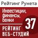 """Рейтинг веб-студий (""""Рейтинг Рунета"""") / Финансы, инвестиции, банки — 37 место"""