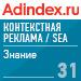 Рейтинг знания в Контекстная реклама / SEA (AdIndex) — 31 место