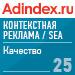Рейтинг качества в Контекстная реклама / SEA (AdIndex) — 25 место