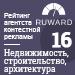 Рейтинг агентств контекстной рекламы (Ruward) / Недвижимость, строительство, архитектура — 16 место