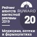 Рейтинг агентств контекстной рекламы (Ruward) / Медицина, аптеки и фармацевтика — 20 место