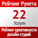 Рейтинг креативности (Рейтинг Рунета) / Услуги — 22 место