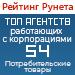 Рейтинг агентств, работающих с корпорациями (Рейтинг Рунета) / Потребительские товары — 54 место