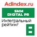 Интегральный рейтинг в SMM / Digital PR (AdIndex) — 8 место