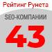 Рейтинг SEO-компаний  («Рейтинг Рунета») — 43 место