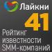 Рейтинг известности SMM-компаний 2020 (Лайкни) — 41 место