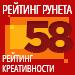 Рейтинг креативности (Рейтинг Рунета) — 58 место