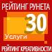 Рейтинг креативности (Рейтинг Рунета) / Услуги — 30 место