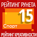 Рейтинг креативности (Рейтинг Рунета) / Спорт — 15 место