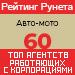 Рейтинг агентств, работающих с корпорациями (Рейтинг Рунета) / Авто-мото — 60 место