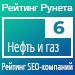 Рейтинг SEO-компаний (Рейтинг Рунета) / Нефть и газ — 6 место