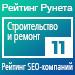 Рейтинг SEO-компаний (Рейтинг Рунета) / Строительство и ремонт — 11 место