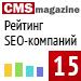 """Рейтинг SEO-компаний 2013 (""""Рейтинг Рунета"""", CMSMagazine) — 15 место"""